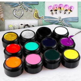 Portable 12-Color Nail Polish Gel Oil Kit