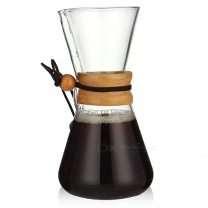 ZHAOYAO 500ML Heat Resistant Glass Coffee BrewerเธƒเธŒ 3-Cup Counted Chemex Hot Brewer Coffee Pot