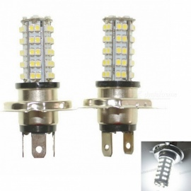 H4 3.5W 68-SMD LED 6500K 310-Lumen White Fog Lights for Car (Pair/DC 12V)
