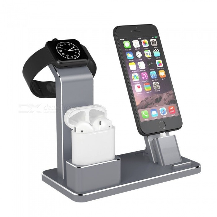 Measy Aluminum 4-in-1 Apple Watch Charger, Charging Stand