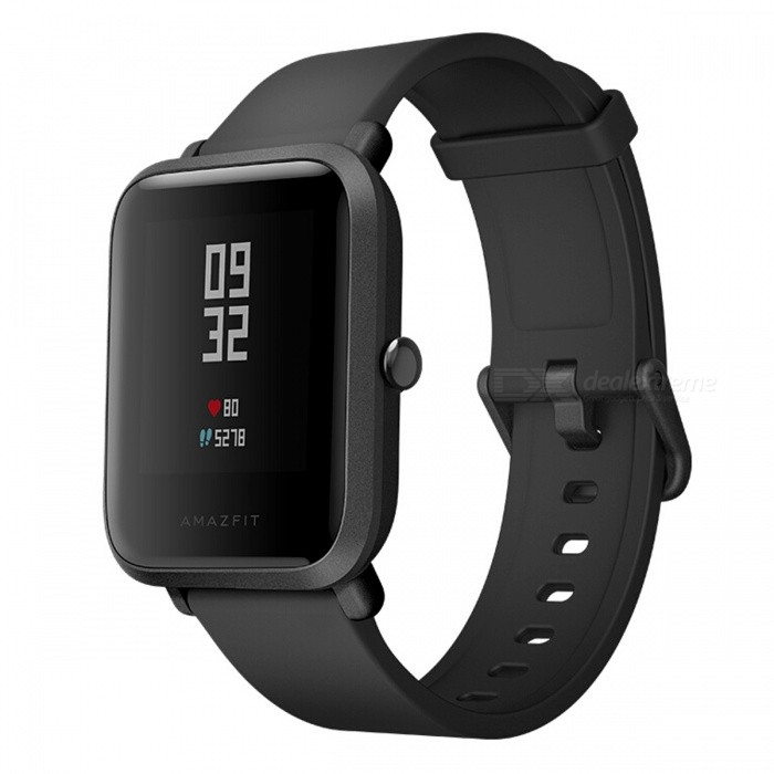Original Xiaomi Huami Amazfit Bip BIT Global Version Smart Watch with IP68 Waterproof - Black