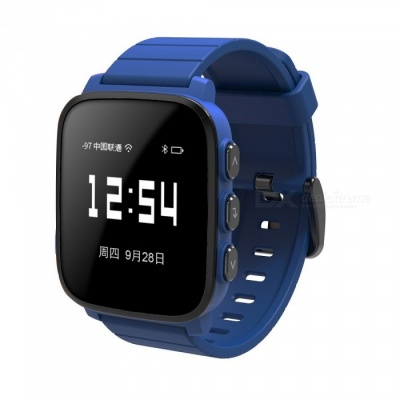 SMAWATCH Large Screen Sports Smart Watch with Heart Rate Monitor - Blue
