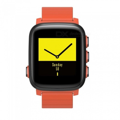 SMAWATCH Large Screen Sports Smart Watch with Heart Rate Monitor - Orange