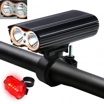 AIBBER TONE 7000 Lumen XM-L LED USB Rechargeable Bicycle Light Lamp Torch Flashlight + Bike TailLight