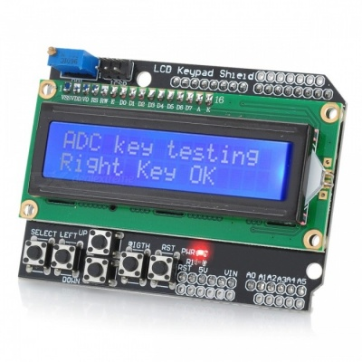NITEO LCD 1602 Keypad Shield Extension Panel for Arduino Due UNO R3 Mega2560 R3 Duemilanove