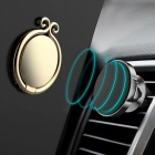 Chinese Golden Hoop Style Durable Rotating Metal Finger Ring Mobile Phone Holder - Blue
