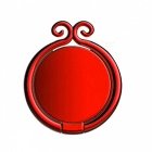 Chinese Golden Hoop Style Durable Rotating Metal Finger Ring Mobile Phone Holder - Red