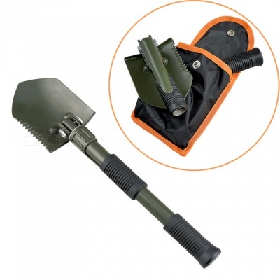 AceCamp Lightweight Folding Shovel with Pick, Camping Garden Shovel Spade Car Emergency Tool Kit
