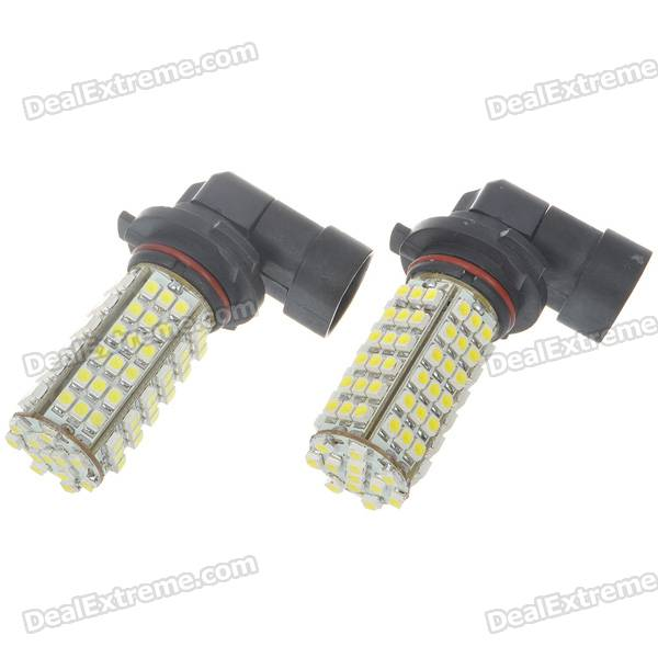 9006 5W 102-SMD LED 460-Lumen 6500K Fog White Light Bulbs (Pair/DC 12V) 9006 6w 190 lumen 18x5050 smd led car white light bulb dc 12v