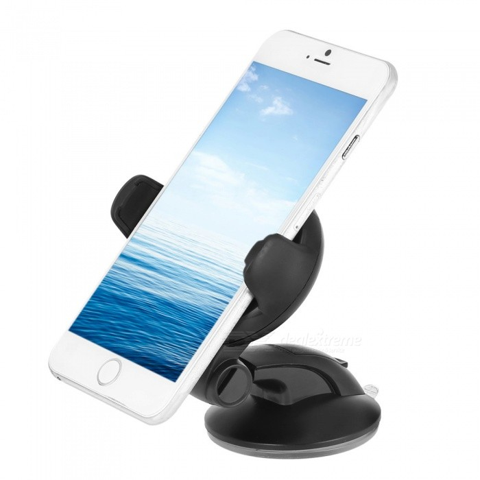 Multi-function Car Mobile Phone Bracket Holder with Suction Cup - Black