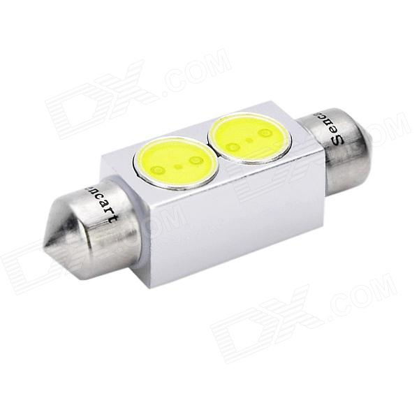 39mm 2W 6500K 29-Lumen 2-SMD LED White Light Bulb for Car (DC 12V) 9006 6w 190 lumen 18x5050 smd led car white light bulb dc 12v