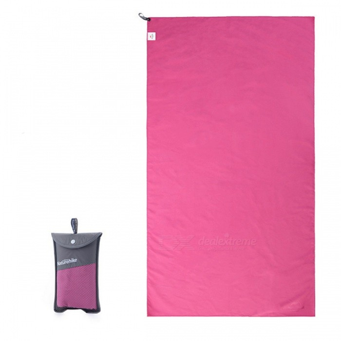 Naturehike NH15A003-P Outdoor Travel Quick-drying Polyester Towel - Rose Red 130*73CM