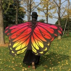 Soft Fabric Butterfly Wings Style Chiffon Shawl Fairy Ladies Nymph Pixie Costume Accessory