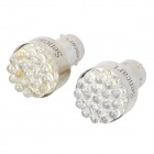 1156 1W 6500K 85-Lumen 19-LED Car White Light Bulbs (Pair/DC 12V)