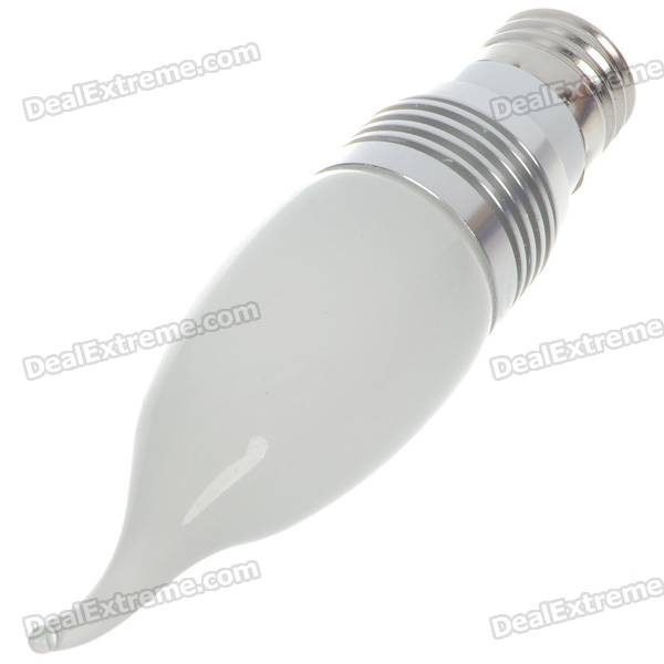 E27 3W 270-Lumen 3200K 3-LED Warm White Light Lamp Bulb (110~265V)