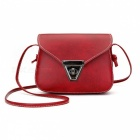 Stylish Mini One-shoulder Bag with Metal Lock for Women Girls - Red