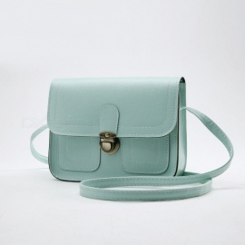 Lady's Vintage Small Cell Phone Handbag Messenger Bag - Mint Green