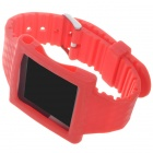 Wrist Watch Style Protective Silicone Case with Band for Ipod Nano 6 (Red)