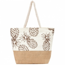 Creative Pineapple Pattern Straw Plaited Bag - Brown