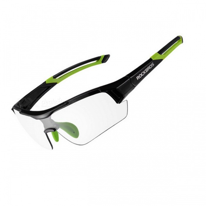 ROCKBROS UV400 Photochromic Cycling Bicycle Bike Myopia Glasses Goggles - Green