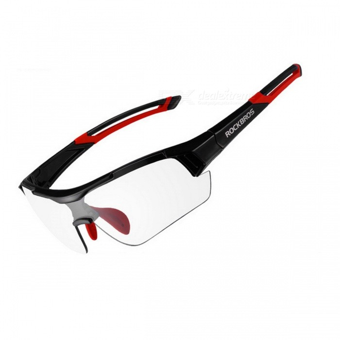 ROCKBROS UV400 Photochromic Cycling Bicycle Bike Myopia Glasses Goggles - Red