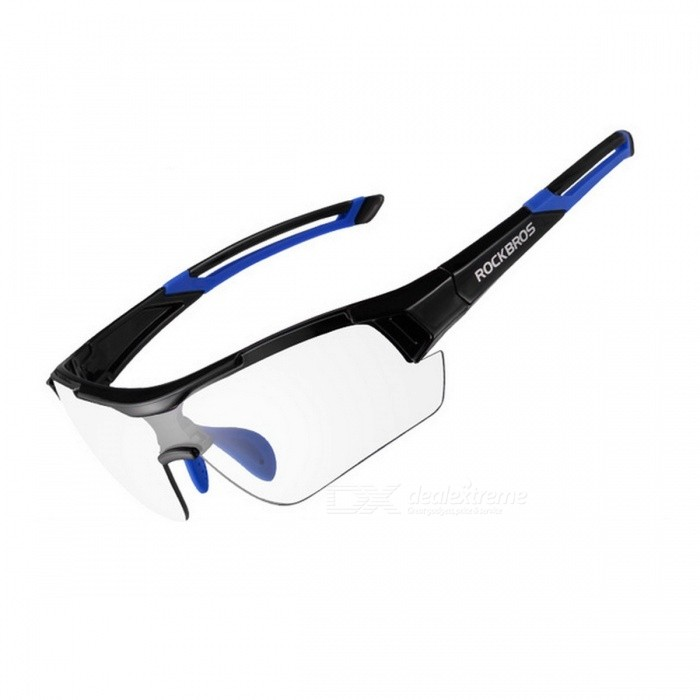 ROCKBROS UV400 Photochromic Cycling Bicycle Bike Myopia Glasses Goggles - Blue