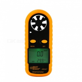 OJADE Portable Handheld LCD Display Digital Electronic Anemometer for Measuring Wind Speed Air Volume - Yellow