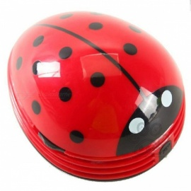 Mini Ladybug Shape Desktop Coffee Table Vacuum Cleaner, Dust Collector for Home Office