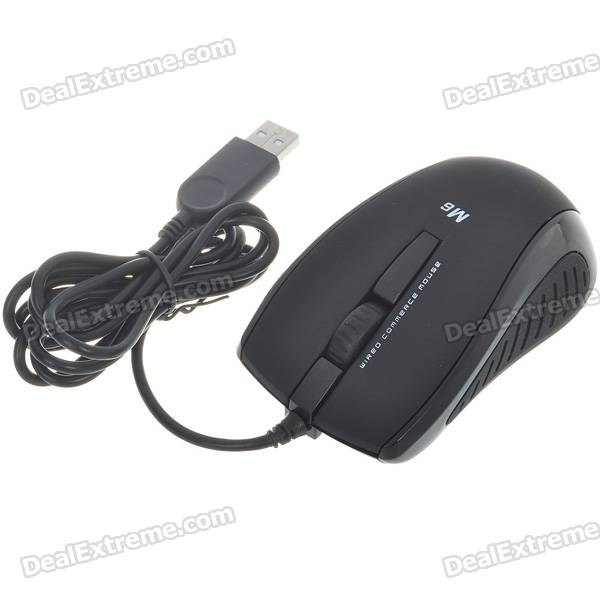 M6 1000dpi Komfortable Commerce USB Wired Optical Mouse (1,5 MB-Kabel)