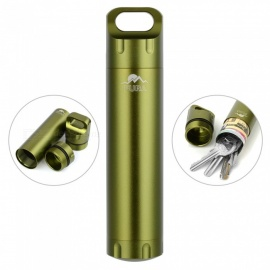 FURA Outdoor Survival Aluminum Alloy Waterproof Container - Green