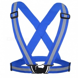 Elastic Traffic Safety Night Reflective Strap Brace - Blue