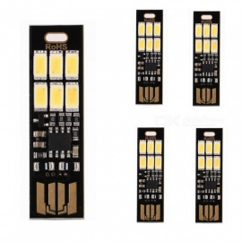 ZHAOYAO 5PCS Dimming USB 5V 300lm 5730 SMD-6LEDs Lamp White Light - Black