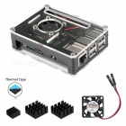 9-Layer Acrylic Case Box with Cooling Fan and Heat Sinks for Raspberry Pi 3B+