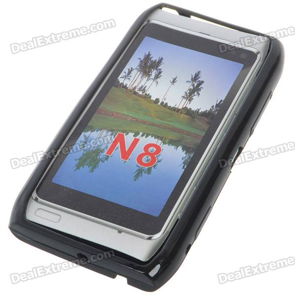 Protective TPU Case for Nokia N8 (Black) protective tpu case for nokia 925 black