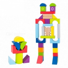 Original Xiaomi Mitu Hape 70Pcs Puzzle Building Blocks w/ 26 Letters 10 Numbers