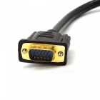 Dayspirit 1 Male to 2 Female VGA Splitter Cable Adapter - Black