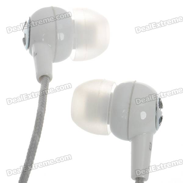 Kanen EC5 Noise Isolation In-Ear Stereo Earphone - White (3.5mm Jack/120cm Cable)
