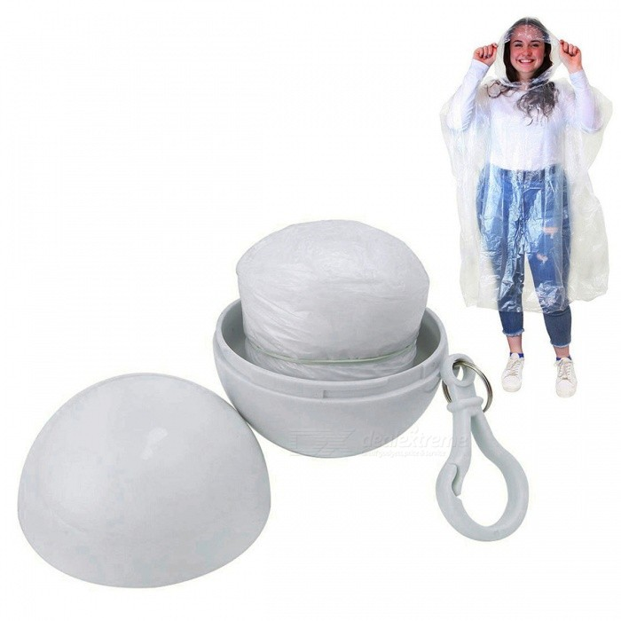 Outdoor Camping Travel Emergency Portable Disposable Raincoat - White