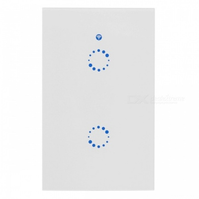 Sonoff T1 US Smart Wi-Fi Wall Touch Light Switch with 315MHz RF / APP Remote - 2 Gang