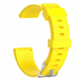 Smart Watch Silicone Replacement Wristband (L) for Fitbit Versa - Yellow