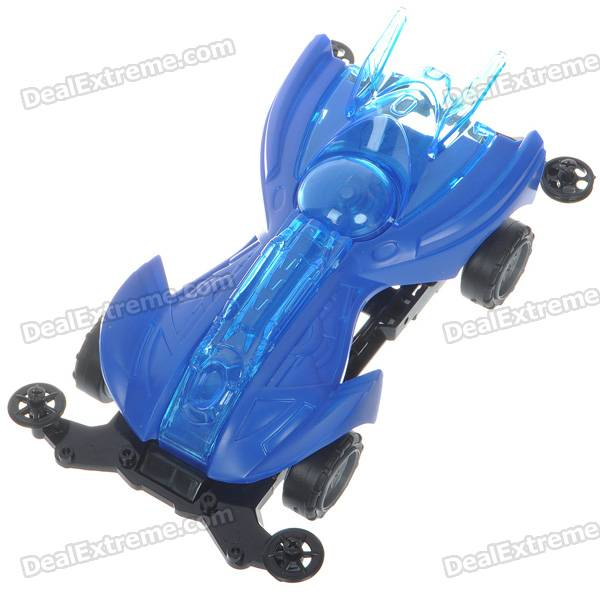 Cool Intellectual Development DIY Toy Car - Black + Blue (2*AA)