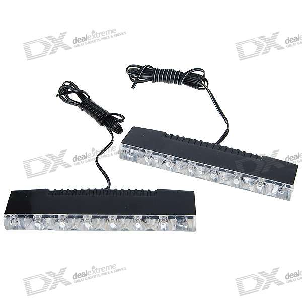 Super White 6-LED Decorative LED Strips for Vehicles (2-Pack) one pack of 300watt led grow light full spectrum for indoor plants and flower phrase high yield