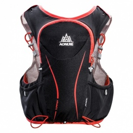 AONIJIE 5L Unisex Vest Shape Backpack Bag for Riding, Marathon, Running Sports - Black + Red (L / XL)