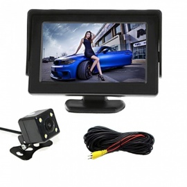 OJADE 4.3 Inches Monitor + 170 Degree HD Car Rear View Camera + High-Definition Wide Angle Waterproof CMOS Camera