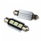 36mm 1W 100lm 7000K 3-SMD LED Car White Light Bulb för BMW (DC 12V)