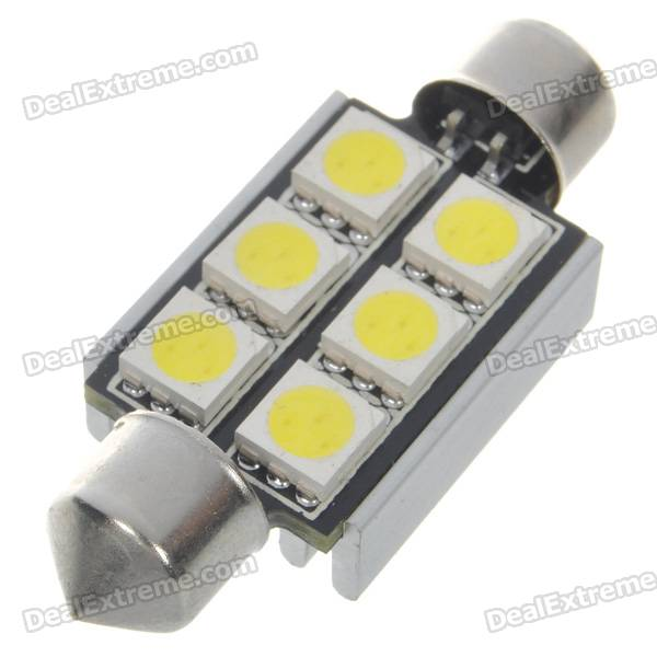 BMW 41mm 2.5W 250-Lumen 7000K 6-SMD LED Car White Light Bulb (DC 12V) 9006 6w 190 lumen 18x5050 smd led car white light bulb dc 12v