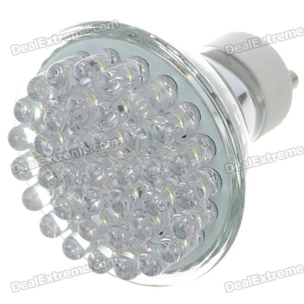 GU10 2.2W 58lm 7000K Cold White Light 38*LED Cup Bulb (230V)