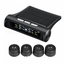 Universal Solar Energy LCD Screen Car Tire Pressure Monitoring System