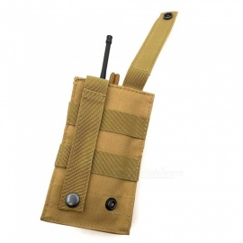 Outdoor Multi-function Walkie-Talkie Bag Tactical Vest Accessory Bag Molle System Pocket - Khaki