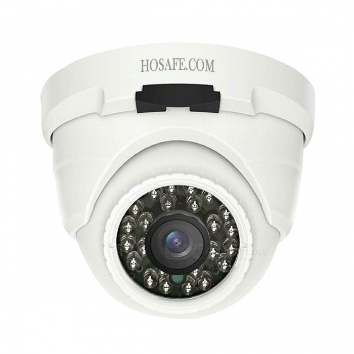 HOSAFE H2MD6PA Outdoor 1080P POE IP Camera with Audio, 50ft Night